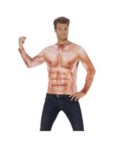 Tee-shirt manches longues Monsieur Muscle | Déguisement