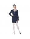 Déguisement hôtesse de l'air (veste, jupe, foulard et coiffe)