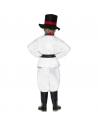 Déguisement Bonhomme de neige enfant (haut, pantalon, chapeau, écharpe, ceinture, nez)