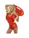 Costume garde-côte sexy, Alerte à Malibu (combinaison, veste et flotteur)