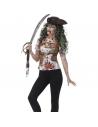 Tee-shirt femme zombie pirate | Déguisement