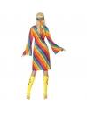 Robe hippie arc-en-ciel avec bandeau | Déguisement