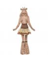 Déguisement sexy fever girafe (robe tutu et bretelles transparentes amovibles, avec capuche animale et sur-bottes) | Déguisement