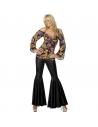 Déguisement hippie femme ( haut à motifs et pantalon pattes d'éléphants