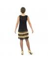 Déguisement années 20, charleston noir et or (robe avec dentelle, franges et perles) | Déguisement