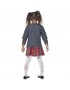 Déguisement enfant zombie écolière (jupe, veste, fausse chemise et cravate)