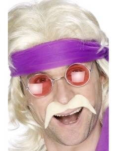 Moustaches 80's blondes auto-adhésives | Accessoires