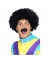 Perruque et moustache Scouser noir   Accessoires