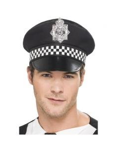 Casquette policier anglais noire et blanche | Accessoires