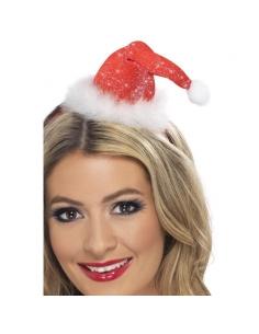 Serre-tête mini chapeau Noël scintillant | Accessoires