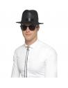 Chapeau Fedora plastique noir | Accessoires
