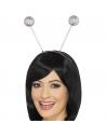 Serre-tête antenne boules paillettes argent | Accessoires