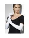 Gants longs blancs jersey | Accessoires
