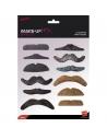 12 moustaches auto-adhésives | Accessoires