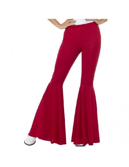 Pantalon patte d'éléphant rouge | Déguisement