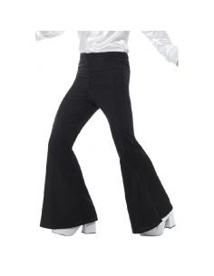 Pantalon patte d'éléphant homme noir | Déguisement