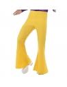 Pantalon patte d'éléphant homme jaune | Déguisement