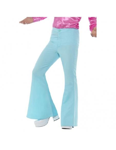 Pantalon patte d'éléphant homme bleu | Déguisement