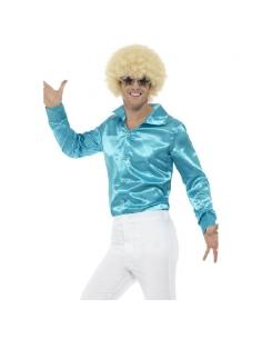 Chemise années 60 homme bleu | Déguisement