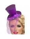 Serre-tête mini chapeau violet | Accessoires