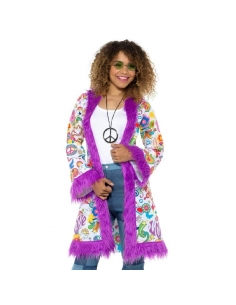 Manteau adulte hippie | Déguisement