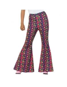Pantalon à patte d'éléphant psychédélique femme | Déguisement