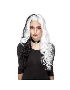 Perruque blanche et noire | Accessoires