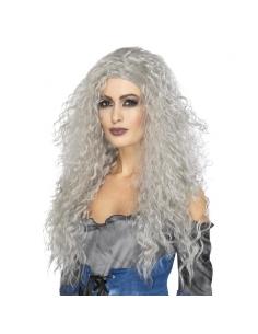 Perruque grise bouclée | Accessoires
