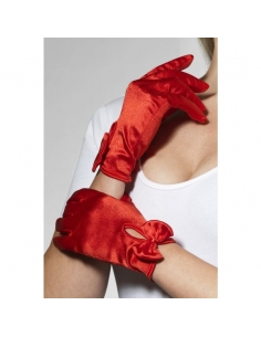 Gants coeurts avec Noeuds rouges | Accessoires