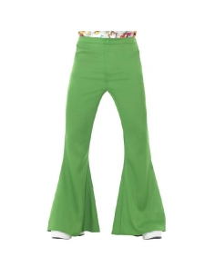 Pantalon pattes d'éléphant vert | Déguisement