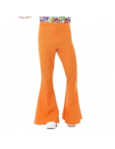 Pantalon pattes d'éléphant orange | Déguisement