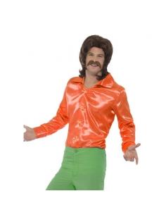 Chemise orange années 60 | Déguisement