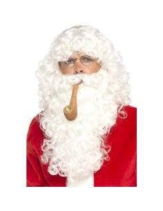 Set Père Noël (Perruque + Barbe + Lunettes + Pipe) | Accessoires