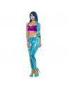 Leggings style sirène, bleu - Femme