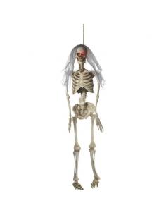 Squelette mariée avec yeux lumineux | Décorations