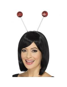 Antennes boules pailletées rouge | Accessoires