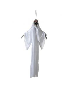 Squelette blanc avec yeux lumineux à suspendre | Décorations