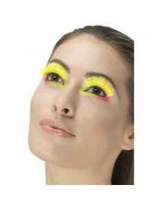 Faux cils jaune   Accessoires