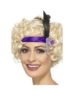 Bandeau charleston violet   Accessoires