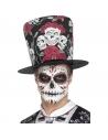 Chapeau haut de forme Dia de Los Muertos imprimé | Accessoires