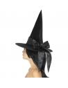 Chapeau de sorcière avec noeud noir | Accessoires