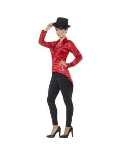Queue-de-pie à sequins rouges pour femme   Déguisement