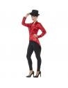 Queue-de-pie à sequins rouges pour femme | Déguisement
