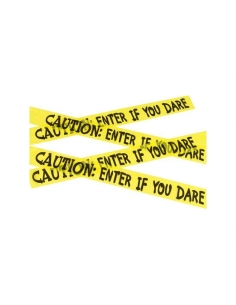 "Ruban ""caution : enter if you dare"" 