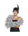 Boa plumes 180 cm gris   Accessoires