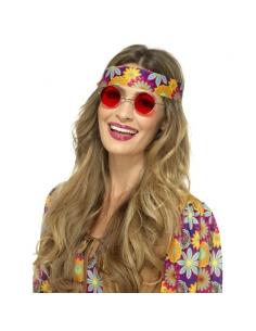 Paire de lunettes Hippie rouge | Accessoires