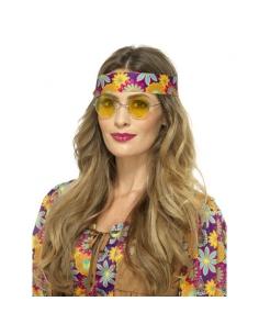 Paire de lunettes Hippie jaune | Accessoires