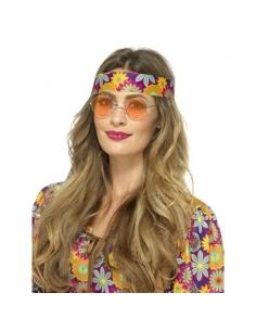 Paire de lunettes Hippie orange | Accessoires