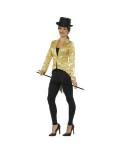 Queue-de-pie à sequins dorés pour femme   Déguisement