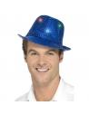 Borsalino bleu à sequins et LED multi-fonctions   Accessoires